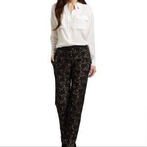 BCBGMaxAzria Black Lace Pants